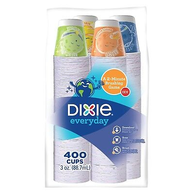 Dixie Everyday 3 oz Bath Cups 400 count Pack of 3 Total 1200 count Made in USA