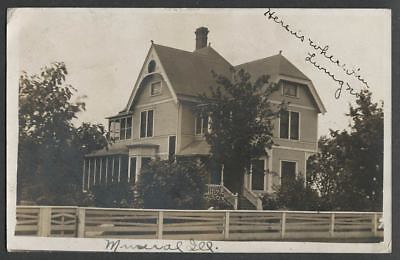 Mineral IL: c.1908 RPPC Postcard HOUSE AT 104 MAPLE STREET