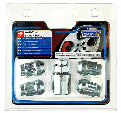 Sumex Anti Theft Locking Wheel Bolts Nuts + Key to fit Vauxhall Agila (12x1.50)