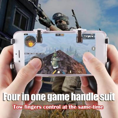 5 in1 Gaming Trigger Cell Phone Game PUBG Controller Gamepad Fire Buttons Handle