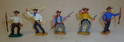 A Group Of Foot Timpo Vintage Plastic Wild West Cowboys  - 1960/70's