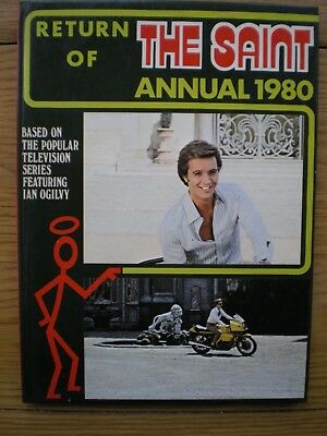 Return of the Saint TV series 1980 Annual hardback unclipped in VG condition
