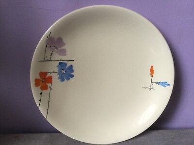 Art Deco MYOTT POTTERY Handpainted Stylised Floral DISPLAY PLATE 1930s