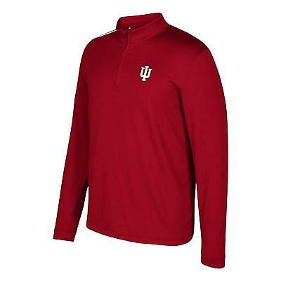f74a9c584a195 ADIDAS CLIMALITE INDIANA University IU Hoosiers 1/4 Zip Pullover ...
