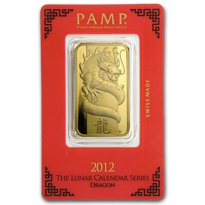2012 ~ 1~OUNCE ~9999 GOLD~ YEAR of the DRAGON ~ PAMP SUISSE ~ SEALED ~ $1,548.88