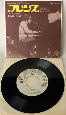 "Elton John ""friends"" Ultra-Rare Original Japanese Wlp Promo Single-45 W/ps!!"