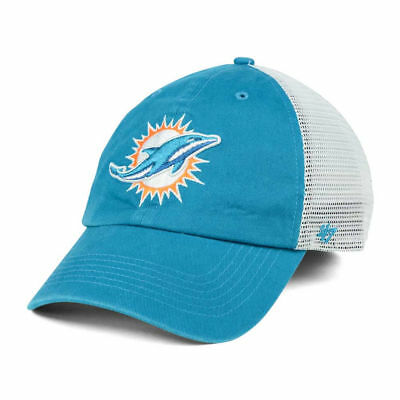 best sneakers 50559 f3861 Miami Dolphins NFL  47 Deep Ball Mesh Closer Stretch Fit Football Cap Hat  Lid LX