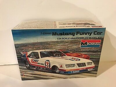 Monogram 1/24 Scale 7-Eleven Mustang Funny Car Model Kit