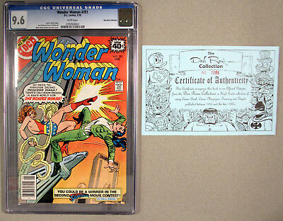 Wonder Woman 251 CGC 9.6 White Pages, Don Rosa Collection!