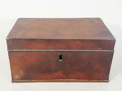 BEAUTIFUL GEORGIAN ANTIQUE FLAME MAHOGANY TEA CADDY 1800 box casket  14