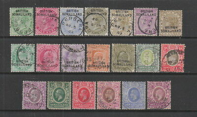 Somaliland 1903 - 1921 collection, 20 stamps.