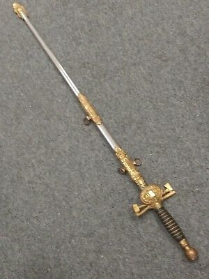 Rare Antique Woodmens Fraternal Parade Sword with Scabbard No reserve