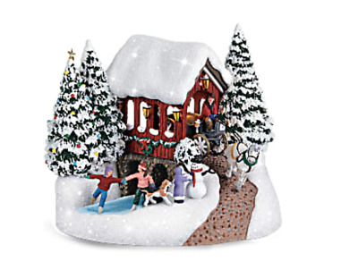 2018 Thomas Kinkade SNOWFALL DREAMS Christmas Keepsake Cottage / Village (NEW)