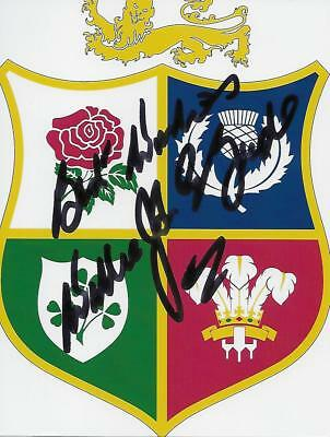British Lions & Ireland Rugby Legend Willie Mcbride  Signed Lions Crest Photo