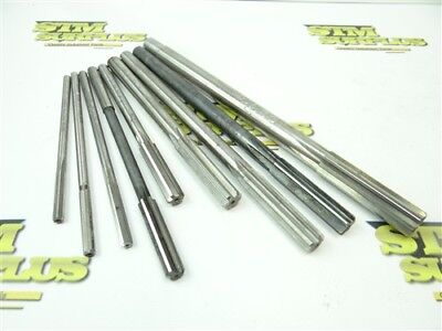 "Lot Of 9 Assorted Hss Chucking Reamers .2180"" To .630"" Morse Yankee 21Cm"