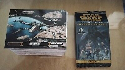 2015 Topps Star Wars Illustrated Empire Strikes Back Complete 100 Card Set
