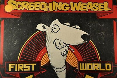 "Screeching WEASELS First World Mani 2011 US 12"" Gold, Blk/Red Splat VINYL Record"