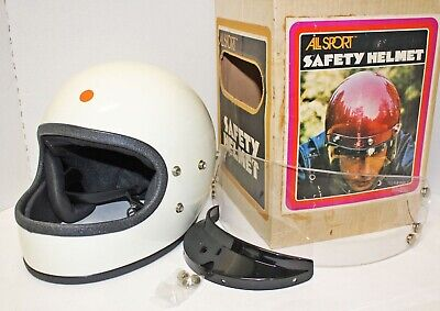 NOS 1970/'s ALL SPORT Brown Candy Pearl XL Poly Safety Motorcycle 3//4 Helmet NIB