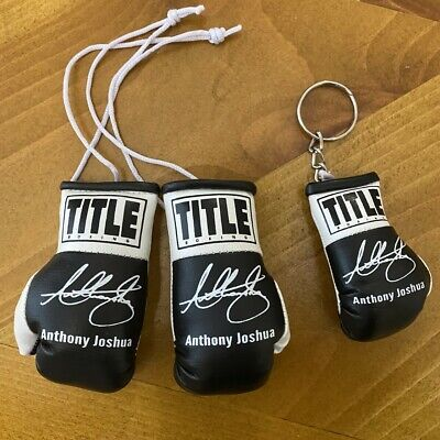Anthony Joshua AJ Autographed Mini Boxing Gloves Signed memorabilia Gift RARE