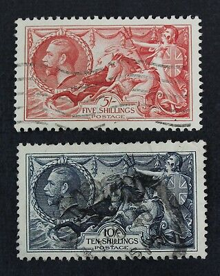 CKStamps: Great Britain Stamps Collection Scott#223 224 Used #224 Lightly Crease