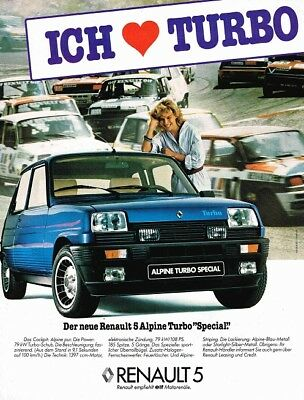 Renault 5 Alpine Turbo Special (German, 1pg.) Advertisement (AAD.484)