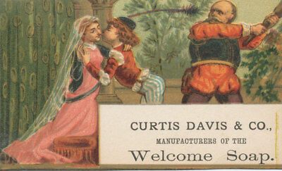 C9086  Victorian Trade Card Curtis Davis Welcome Soap
