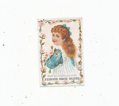 C8229  Victorian Trade Card  Taunton Mass Shoe House Compliments
