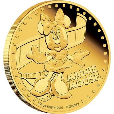 Niue 2014 $25 Disney Mickey & Friends 2014 - Minnie Mouse 1/4 Oz Gold Proof Coin