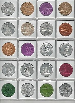 20 Different Walt Disney World Disneyland Castle Mickey Mouse Coins Tokens Lot