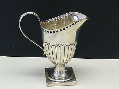1892 Hilliard & Thomason Sterling Silver Footed Creamer Pitcher Jug Victorian