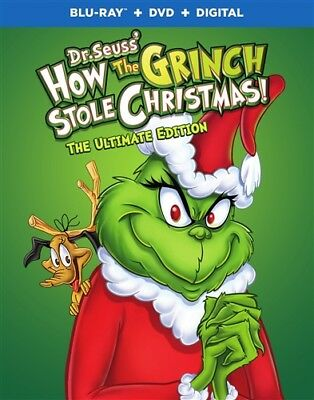 HOW THE GRINCH STOLE CHRISTMAS New Blu-ray + DVD 1966 The Ultimate Edition