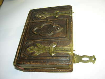 Vintage Leather CDV Photo Album with 18 Photos