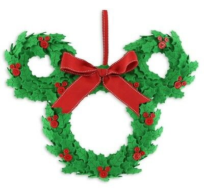 Disney Holiday Wreath - Mickey Icon Holly Door Wreath