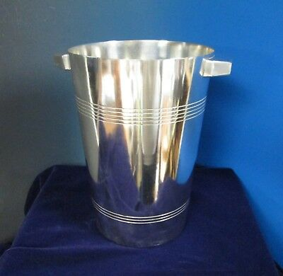 CONTINENTAL Art Deco Silverplate Ice Bucket or Champagne Cooler European Elegant