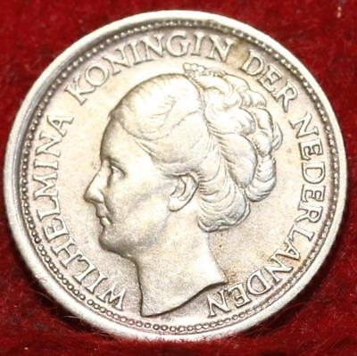 1944S Netherlands 10 Cents Silver Foreign Coin