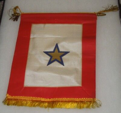 WWII US Military Son In Service KIA Killed Gold Home Front Banner Service Flag
