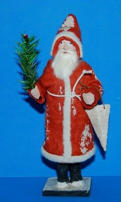 Antique Germany Long Coat Santa Candy Container