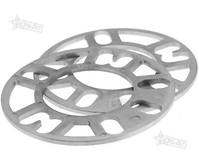 New 2PCS 7MM ALLOY WHEEL SPACERS SHIMS SPACER UNIVERSAL 4 AND 5 STUD FIT