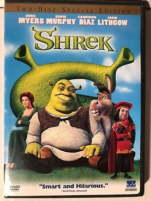 Shrek (DVD, 2001, 2-Disc Set, Special Edition) Great Condition Used