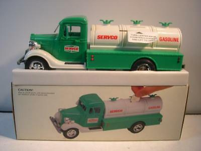 1986 SERVCO Hess Toy Truck Bank Mint New in Box.