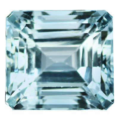 2.59Ct IF Octagan Cut 8 x 7 mm 100% Natural AAA Aqua Blue Color Aquamarine
