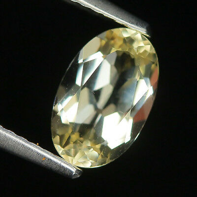 Superb 1.07 Ct Natural Brazil Lite Yellow BERYL Oval Gemstone @ See Video !!