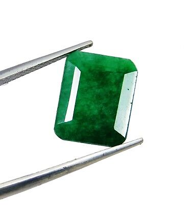 7.80 Cts Natural Emerald Cut Colombian Green Emerald Loose Gemstone. 2201