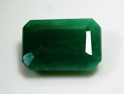 7.20 Cts Natural Emerald Cut Colombian Green Emerald Loose Gemstone. 2300