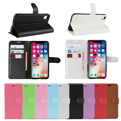 For iPhone 6s 7 8Plus X XR XS Max Leather Wallet Magnetic Flip Case Cover Stand