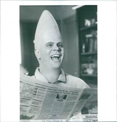 Dan Aykroyd in the film Coneheads, 1993. - Vintage photo