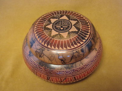 Navajo Hand Etched Horse Hair Trinket Box - Signed! PT0097