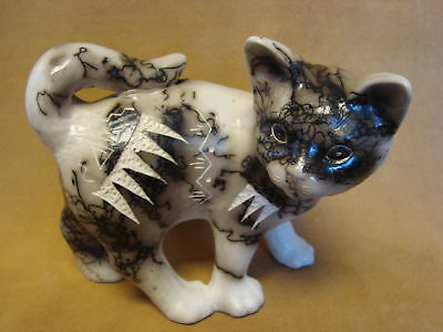 Native American Pottery Cat Sculpture by Vail! Navajo Pot PT0111