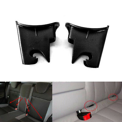 2pcs ABS Plastic Car Baby Seat ISOFIX Latch Belt Connector Guide Groove Black