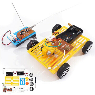 Wireless Remote Control Science Circuit Building Kit Electric Motor DIY Toy Tool